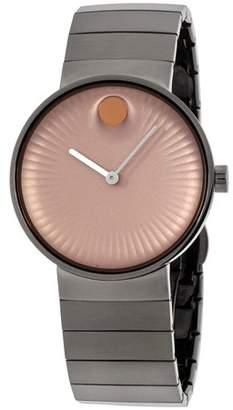 Movado Men's 40mm Steel Bracelet & Case Sapphire Crystal Quartz Rose Gold-Tone Dial Analog Watch 3680023