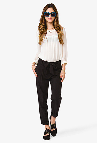 Forever 21 High-Waisted Trousers w/ Belt