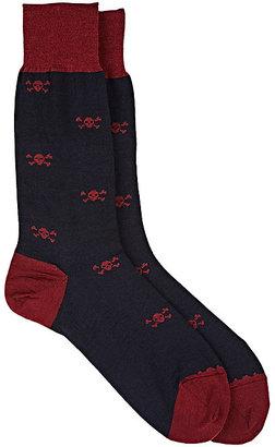 Barneys New York Men's Skull-Print Trouser Socks $45 thestylecure.com