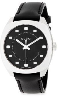 Gucci Stainless Steel Analog Leather Strap Watch