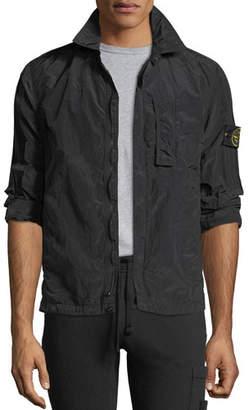 Stone Island Zip-Front Overshirt Jacket