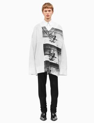 Calvin Klein little electric chair oversized v-neck sweater