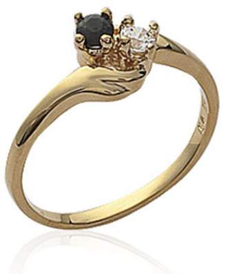 Dena ISADY Noir Gold - Women's Ring - 750/000 (18 Carat) Gold plated - Cubic Zirconia
