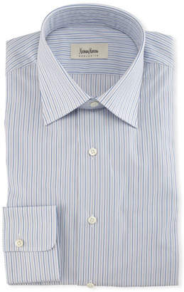 Neiman Marcus Striped Cotton Dress Shirt