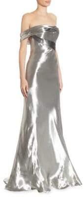 Rubin Singer Metallic Off-The-Shoulder Gown