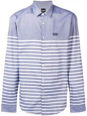 HUGO BOSS striped long sleeved shirt