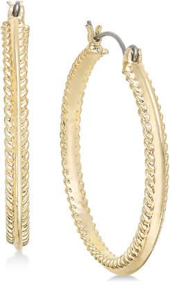 Charter Club Gold-Tone Rope-Edge Hoop Earrings