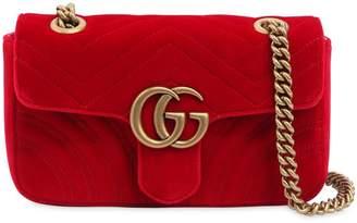 Gucci Mini Gg Marmont 2.0 Velvet Shoulder Bag