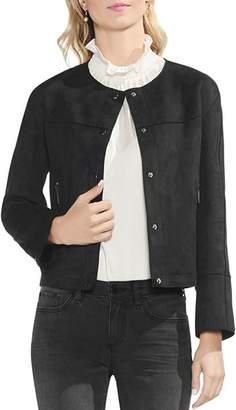 Vince Camuto Faux Suede Snap Front Jacket