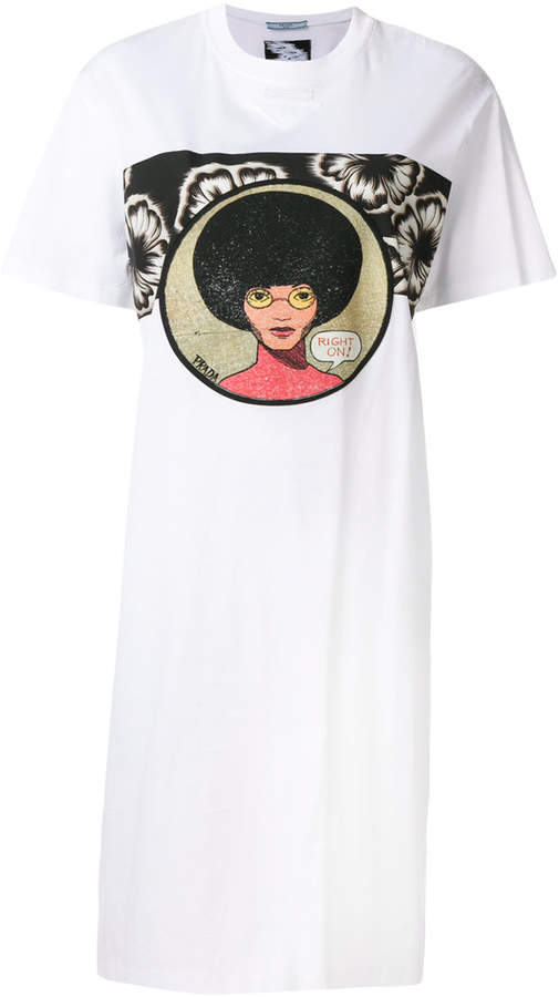 Prada sixties print t-shirt dress
