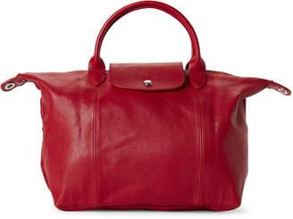Longchamp Cherry Le Pliage Cuir Medium Satchel
