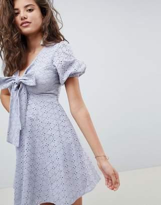 Asos DESIGN broderie babydoll mini dress