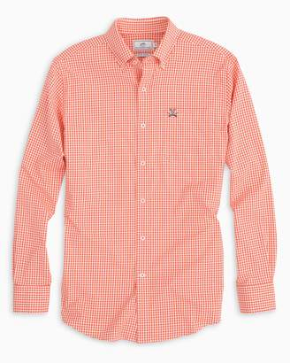 Southern Tide Gameday Gingham Intercoastal Performance Shirt - University of Virginia