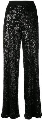 P.A.R.O.S.H. sequined flared trousers