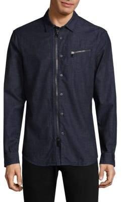 John Varvatos Garment Wash Zip Shirt