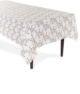 Stephanie Fishwick Large Rectangular Floral-Print Linen Tablecloth