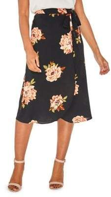 Dorothy Perkins Amber Bloom Wrap Midi Skirt