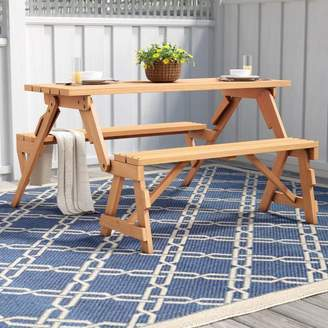 Freeport Park Andres Folding Picnic Table and Bench
