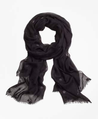 Brooks Brothers Flocked Floral Scarf