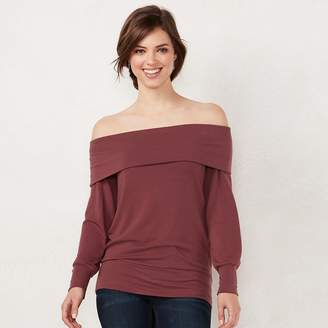 Lauren Conrad Women's Weekend Off-the-Shoulder Sweatshirt