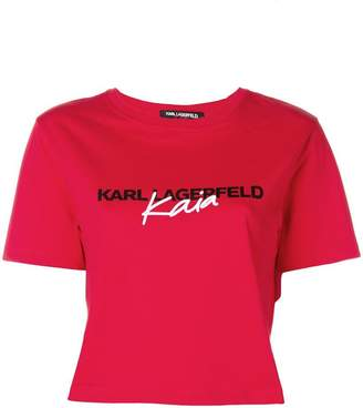 Karl Lagerfeld X Kaia Cropped T-Shirt