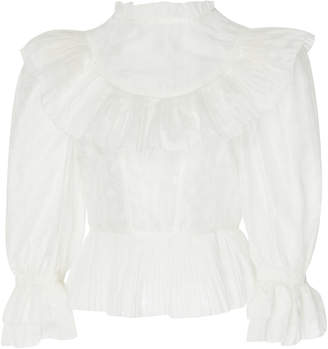 Ulla Johnson Edna cotton and silk blend top