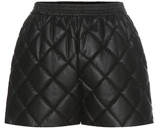 Stella McCartney Cesira quilted faux leather shorts