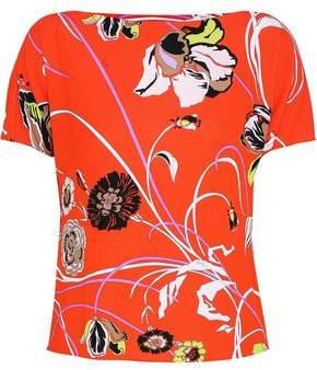Emilio Pucci Floral-Print Stretch-Crepe Top