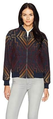 Pendleton Women's Sunrise Wool Jacquard Bomber Jacket
