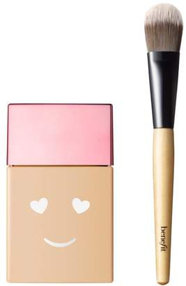 Benefit Cosmetics Hello Happy Soft Blur Shade 3 Foundation & Brush