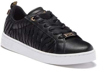 Roberto Cavalli Leather Animal Print Sneaker