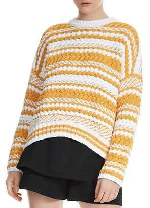 Maje Modeste Mixed-Stitch Sweater