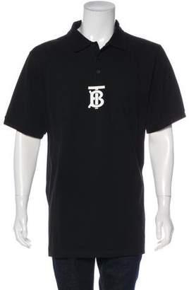 Burberry SS 2019 Monogram Piqué Polo Shirt w/ Tags