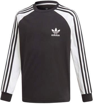 75d27803 adidas Big Boys Original 3-Stripes Long-Sleeve Shirt