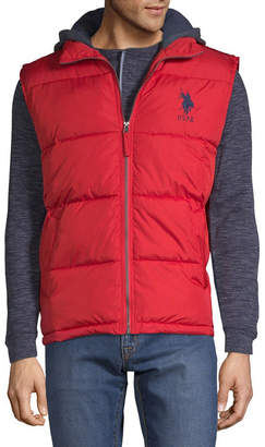 U.S. Polo Assn. USPA Hooded Puffer Vest