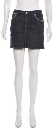 Paper Denim & Cloth Denim Mini Skirt
