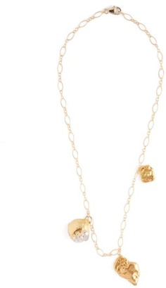 Alighieri The Y Chrome Amore 24kt Gold Plated Necklace - Womens - Gold