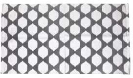 Marlo Lorenz Thro By Isabelle Metallic Foil Ikat Printed Rug