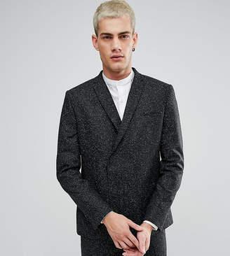 Noak Skinny Double Breasted Suit Jacket in Fleck
