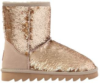 Colors of California Sequined Faux Suede Boots
