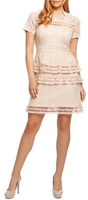 Dex Tiered Crochet A-Line Dress