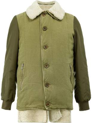 Giorgio Brato shearling button jacket