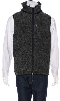 Moncler Hooded Reversible Virgin Wool-Blend Vest w/ Tags