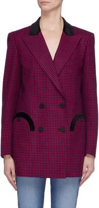 Blazé Milano 'Fair and Square' check wool melton everyday blazer