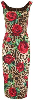 Dolce & Gabbana Dolce \u0026 Gabbana Leopard And Roses Print Dress