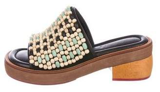 Marni Beaded Platform Slide Sandals
