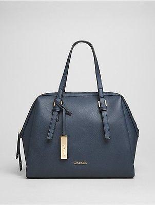 Calvin KleinCalvin Klein Womens Saffiano Medium Satchel Ombre Blue