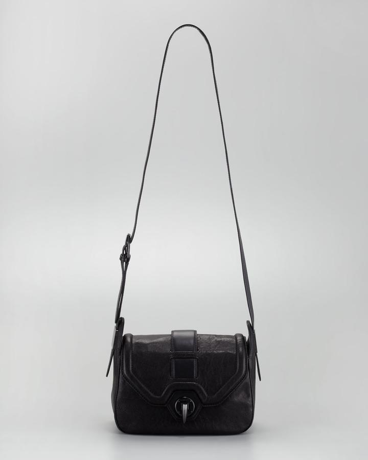 Rachel Zoe Eve Small Saddle Bag, Black