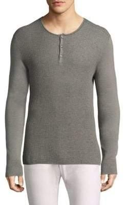John Varvatos Long-Sleeve Knit Henley