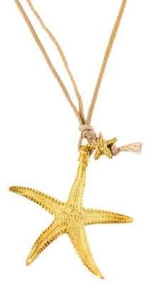 18K Starfish Pendant Necklace